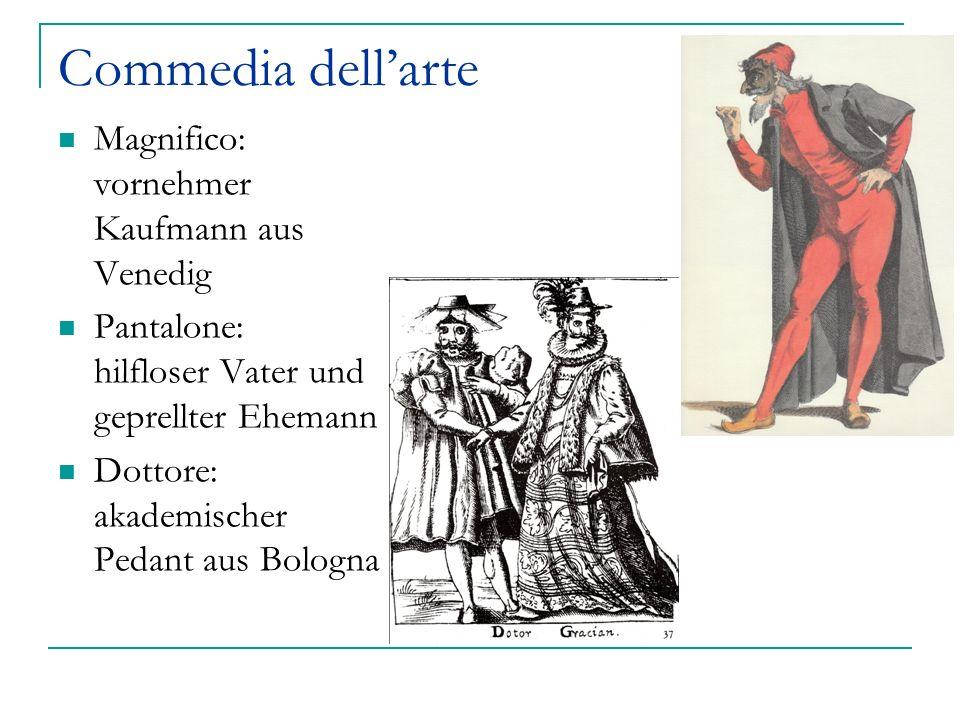 Commedia dell'arte Magnifico: vornehmer Kaufmann aus Venedig