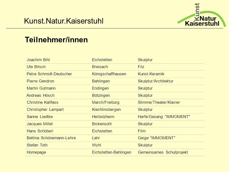 Teilnehmer/innen Joachim Bihl Eichstetten Skulptur Ute Bitsch Breisach