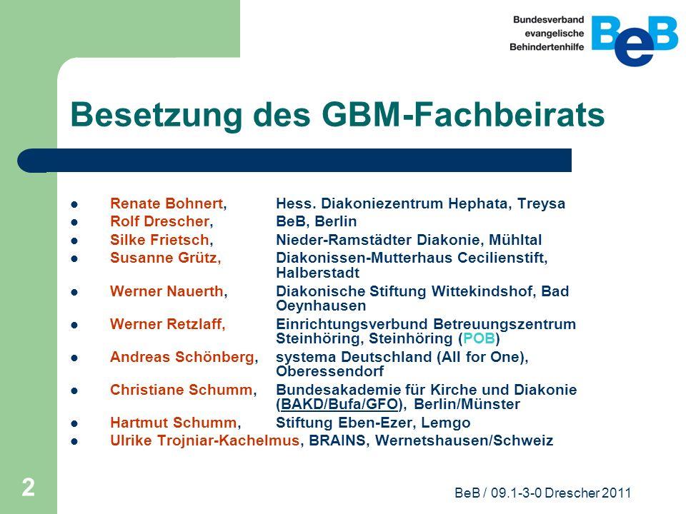 Besetzung des GBM-Fachbeirats