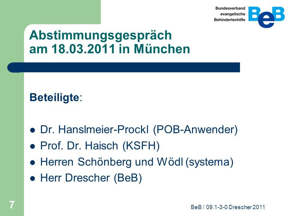 Abstimmungsgespräch am 18.03.2011 in München