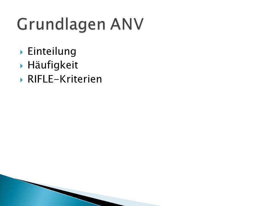 Grundlagen ANV Einteilung Häufigkeit RIFLE-Kriterien