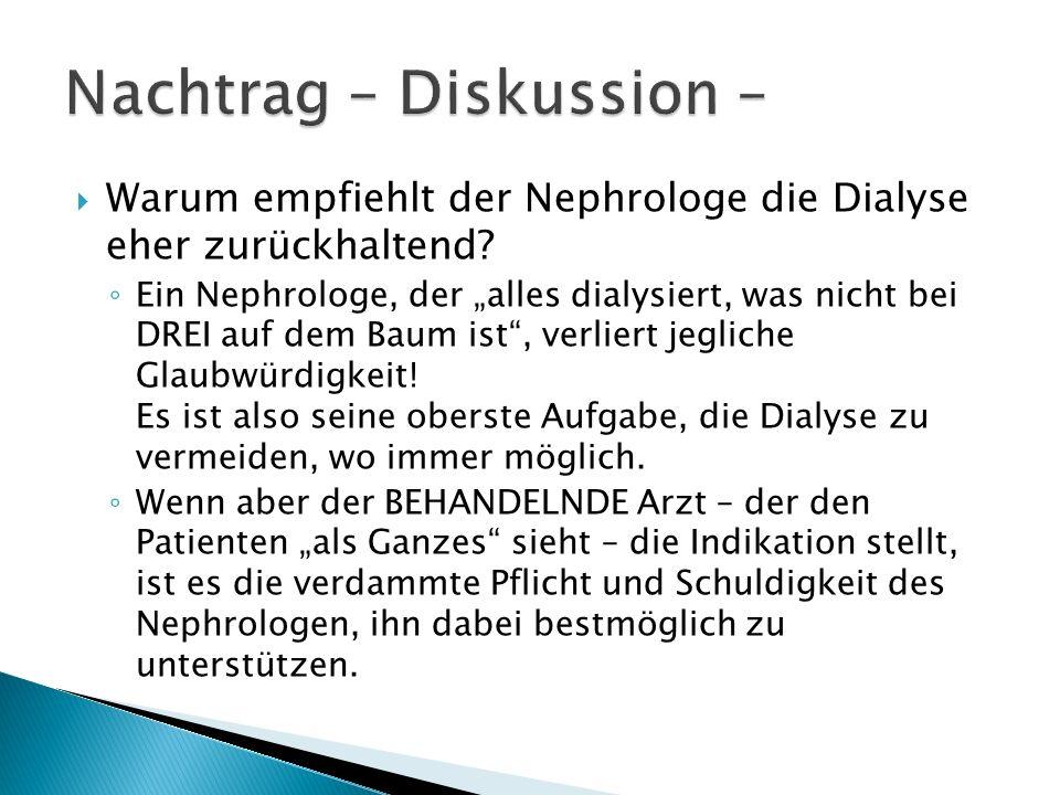 Nachtrag – Diskussion –