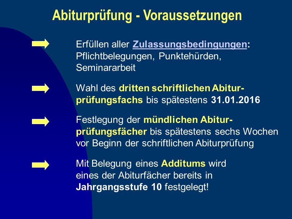 Abiturprüfung - Voraussetzungen