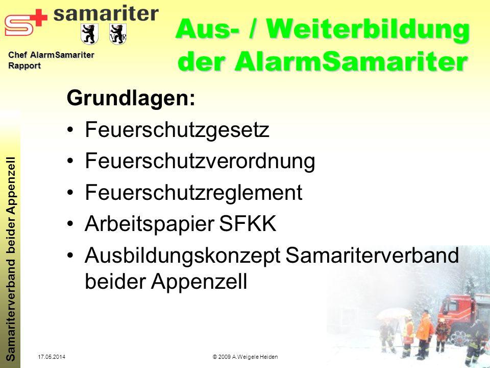 Aus- / Weiterbildung der AlarmSamariter