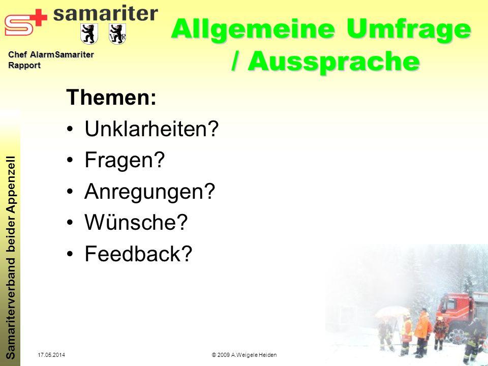 Allgemeine Umfrage / Aussprache