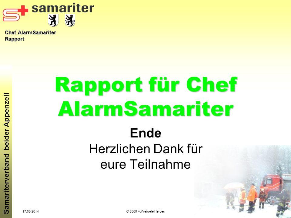 Rapport für Chef AlarmSamariter