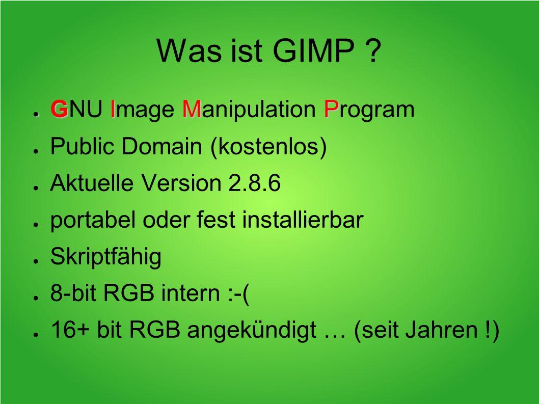Was ist GIMP GNU Image Manipulation Program