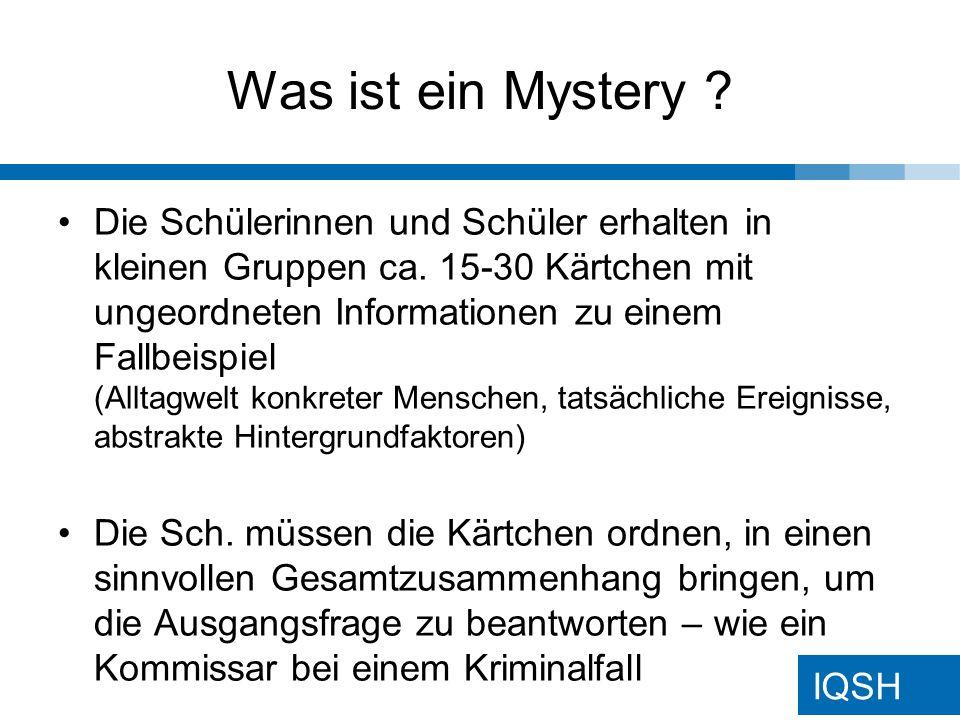 Was ist ein Mystery
