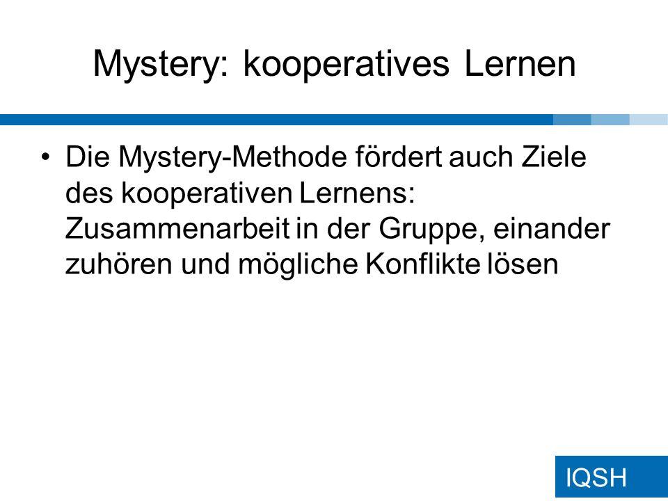 Mystery: kooperatives Lernen
