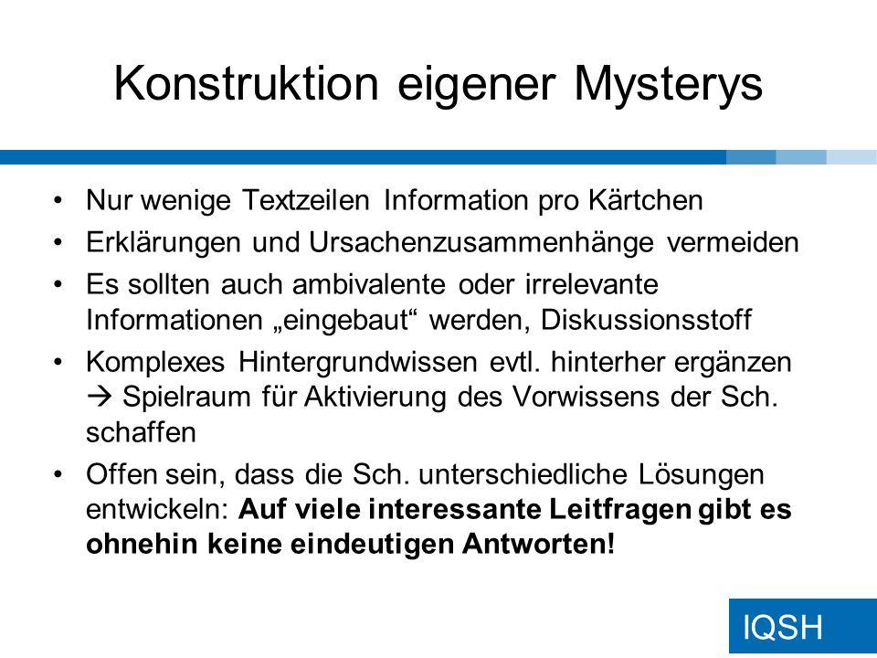Konstruktion eigener Mysterys
