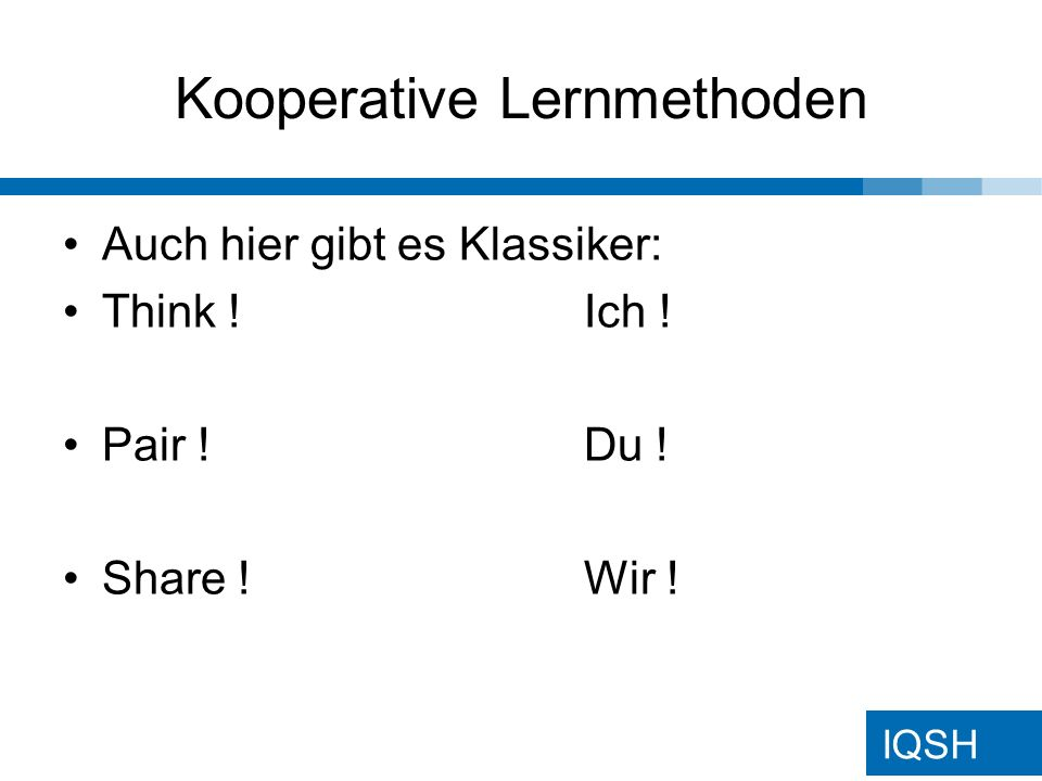 Kooperative Lernmethoden