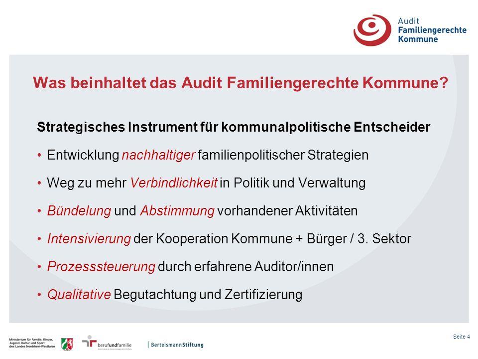 Was beinhaltet das Audit Familiengerechte Kommune