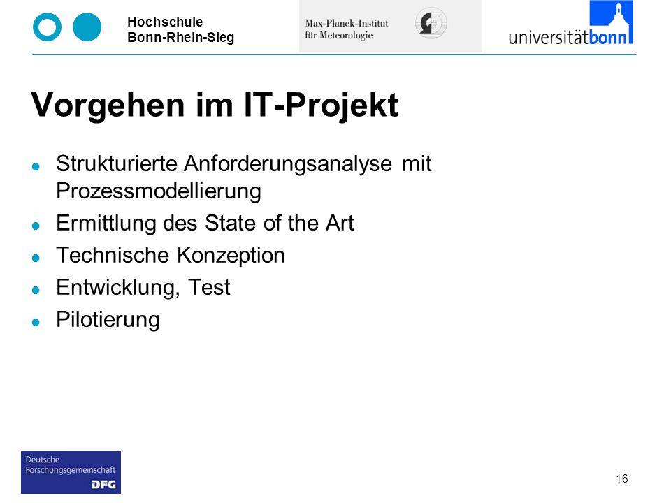 Vorgehen im IT-Projekt