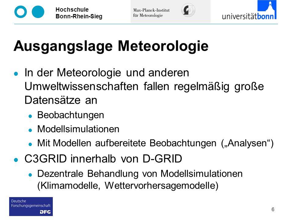 Ausgangslage Meteorologie