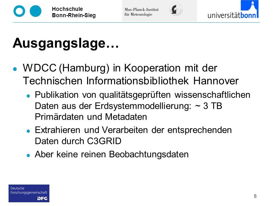 Ausgangslage… WDCC (Hamburg) in Kooperation mit der Technischen Informationsbibliothek Hannover.