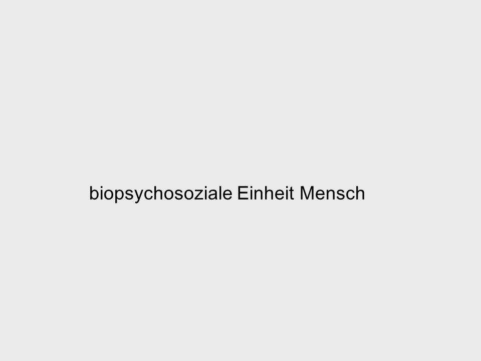 biopsychosoziale Einheit Mensch