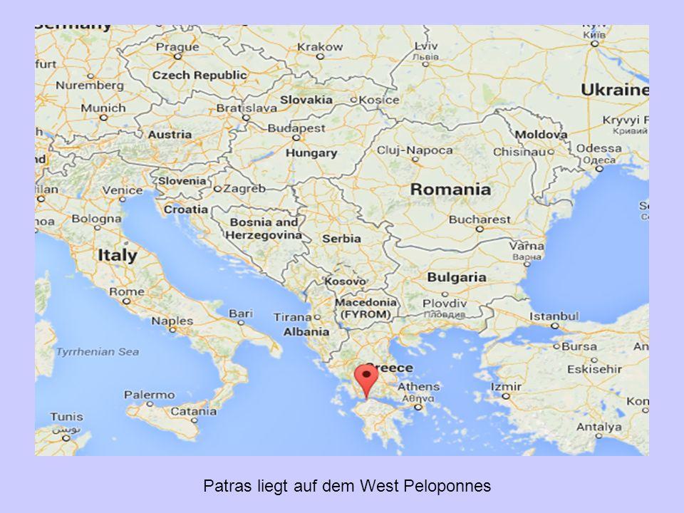 Patras liegt auf dem West Peloponnes