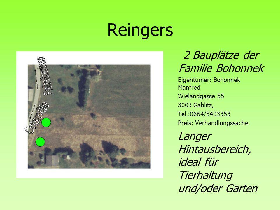 2 Bauplätze der Familie Bohonnek