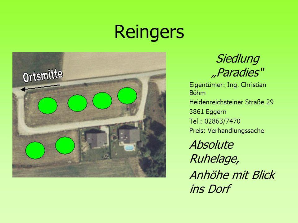 """Reingers Siedlung """"Paradies Absolute Ruhelage,"""
