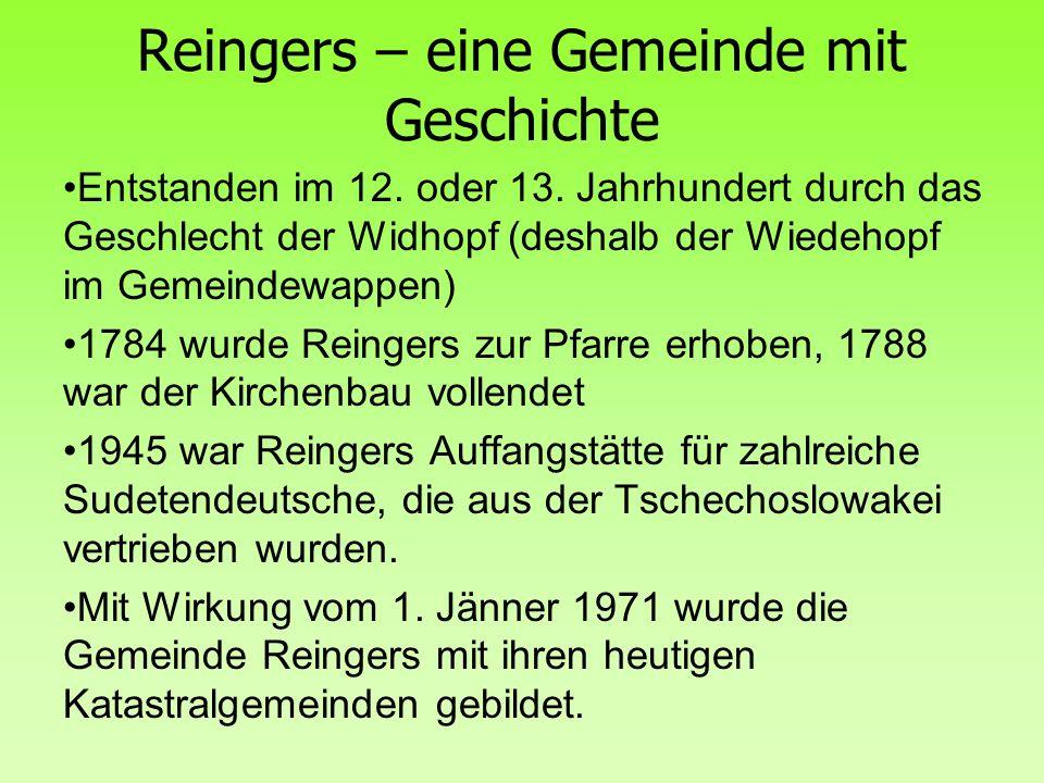 Reingers – eine Gemeinde mit Geschichte