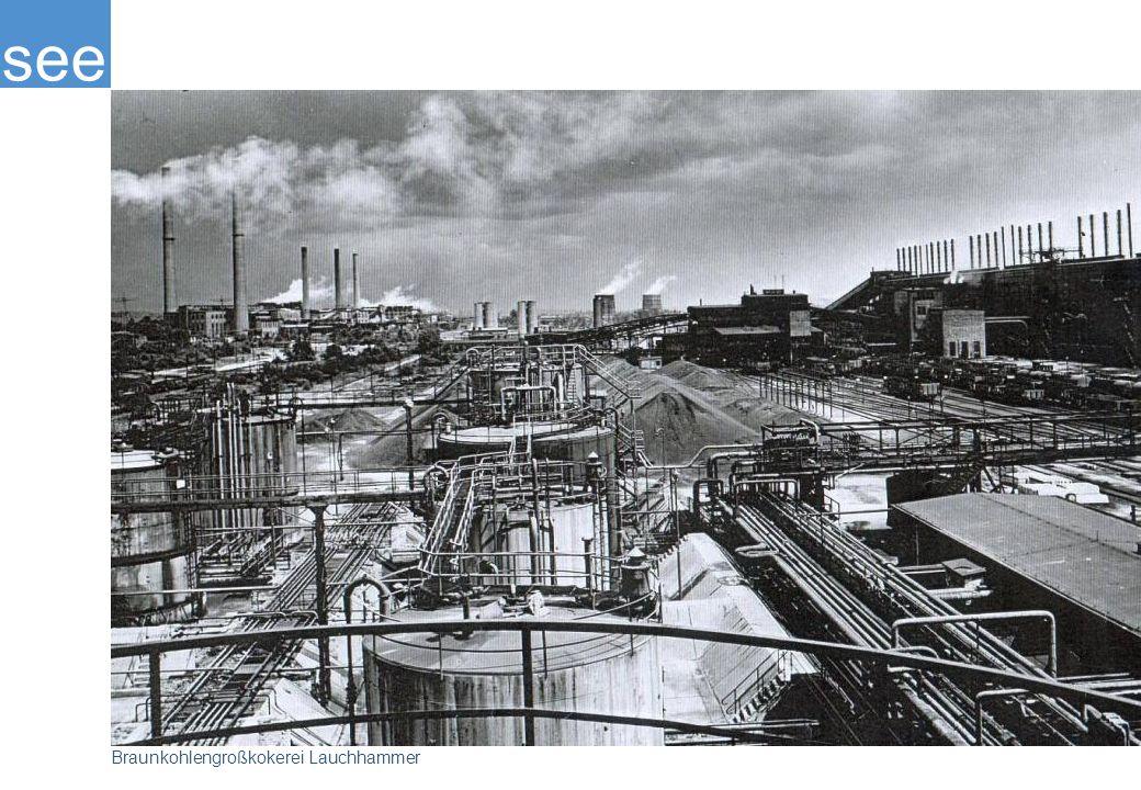 Braunkohlegroßkokerei Lauchhammer wurde in der Zeit von 1952 – 1957 erbaut.