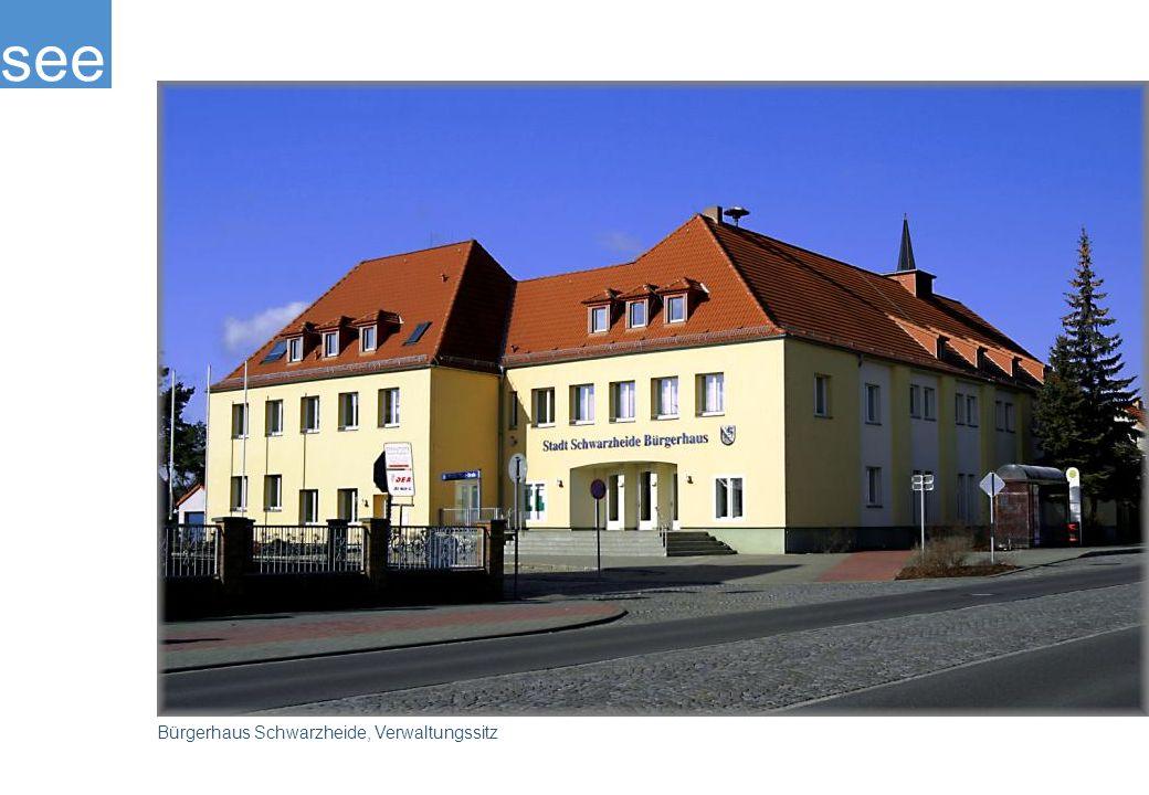 Das Bürgerhaus ist der Verwaltungssitz der Stadt Schwarzheide