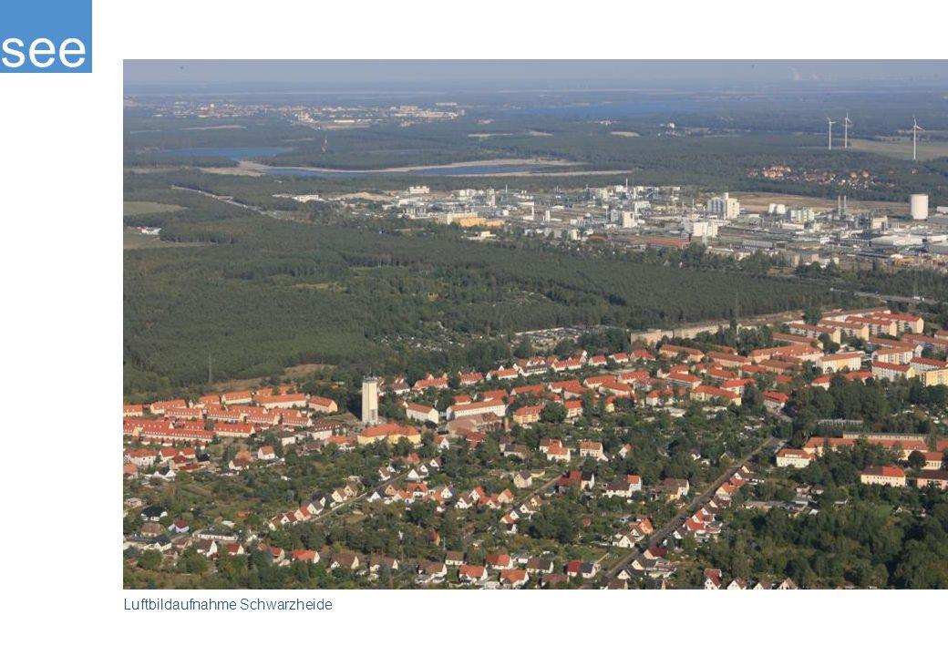 Luftbildaufnahme Schwarzheide
