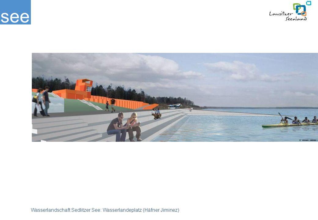 Mit diesem Initial soll ein Standort für den Wassersport entwickelt werden, der die ersten Nutzer des Sees bereits auf dem jetzigen Wasserstand zu einer lebendigen Einheit bündelt. Der Zweckverband beabsichtigt die vorliegende Planung 2009/10 umzusetzen.