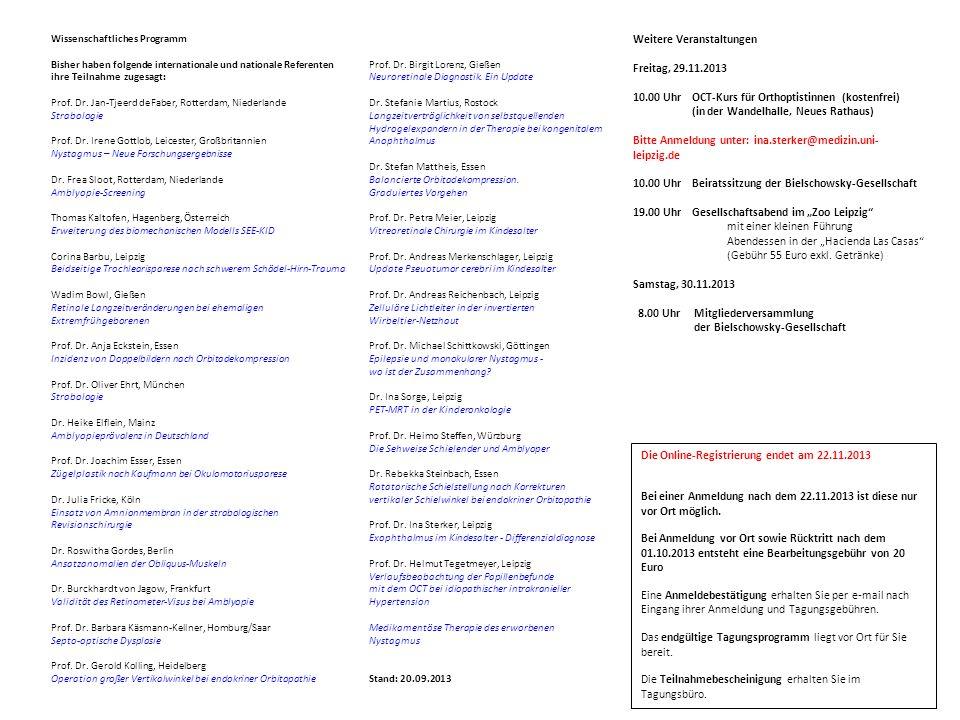 Weitere Veranstaltungen Freitag, 29.11.2013