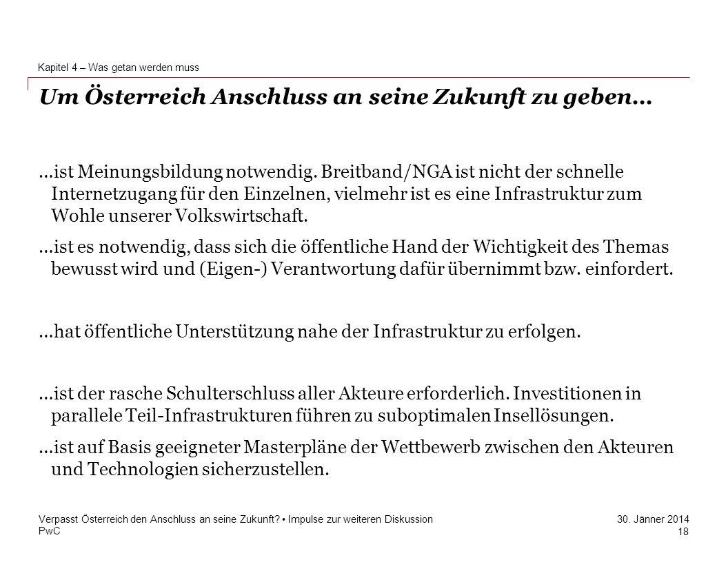 Um Österreich Anschluss an seine Zukunft zu geben…