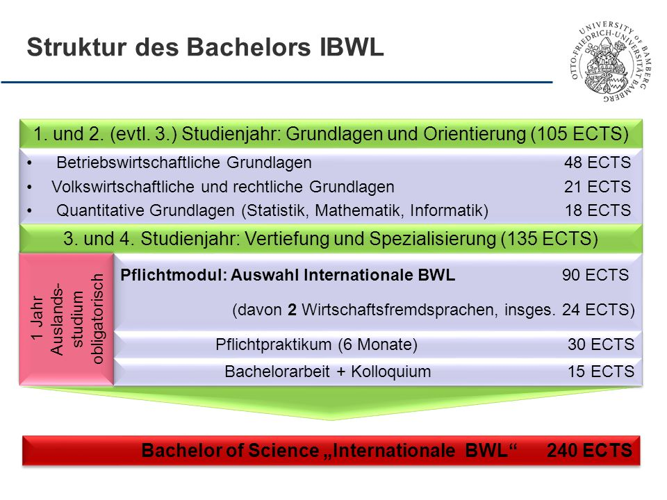 Struktur des Bachelors IBWL