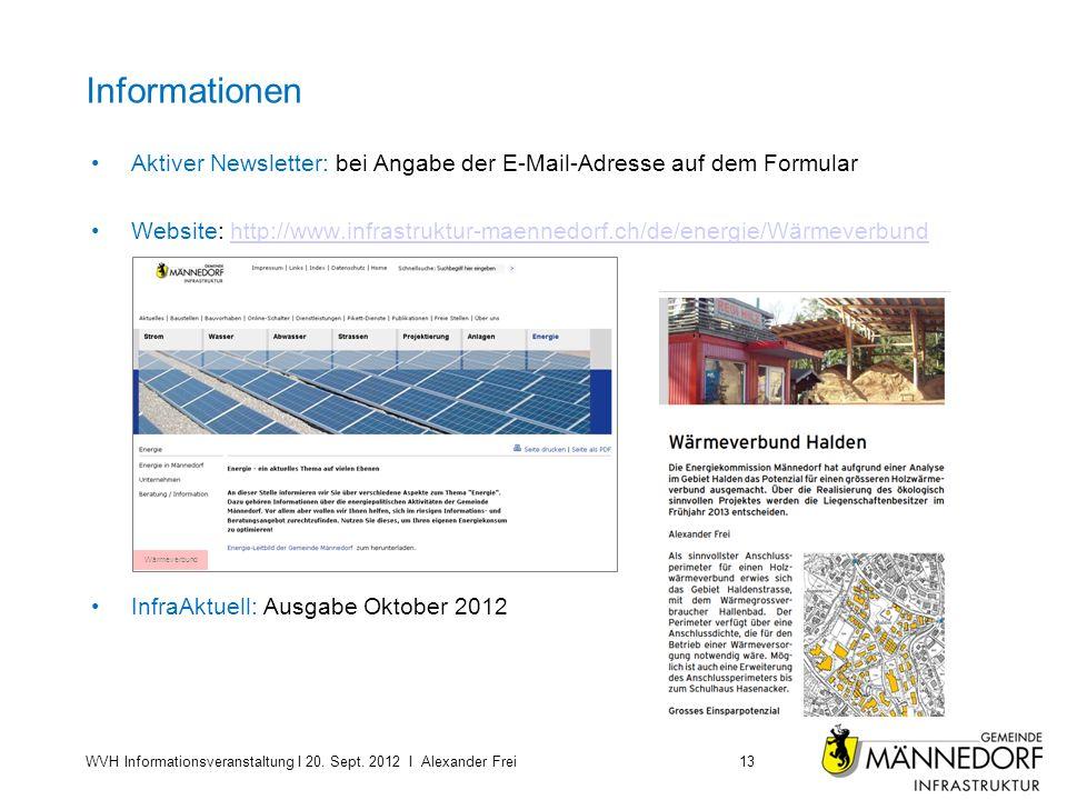 Informationen Aktiver Newsletter: bei Angabe der E-Mail-Adresse auf dem Formular.