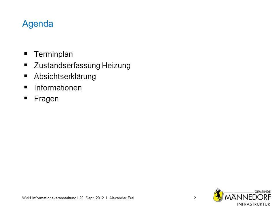 Agenda Terminplan Zustandserfassung Heizung Absichtserklärung