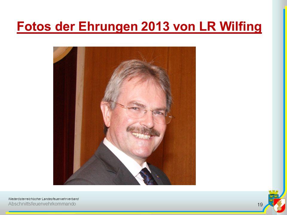 Fotos der Ehrungen 2013 von LR Wilfing