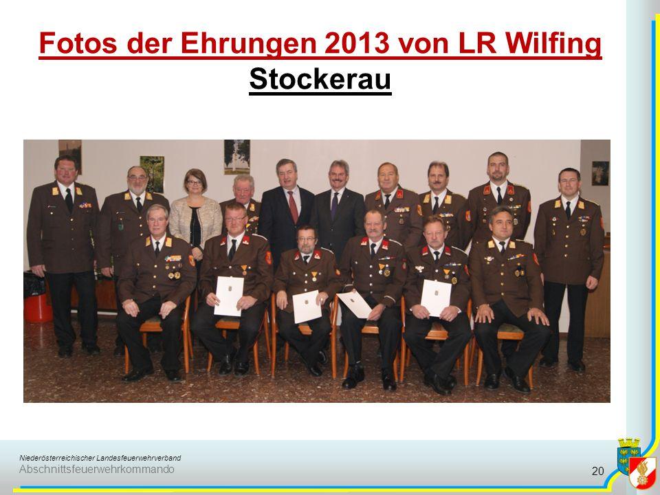 Fotos der Ehrungen 2013 von LR Wilfing Stockerau