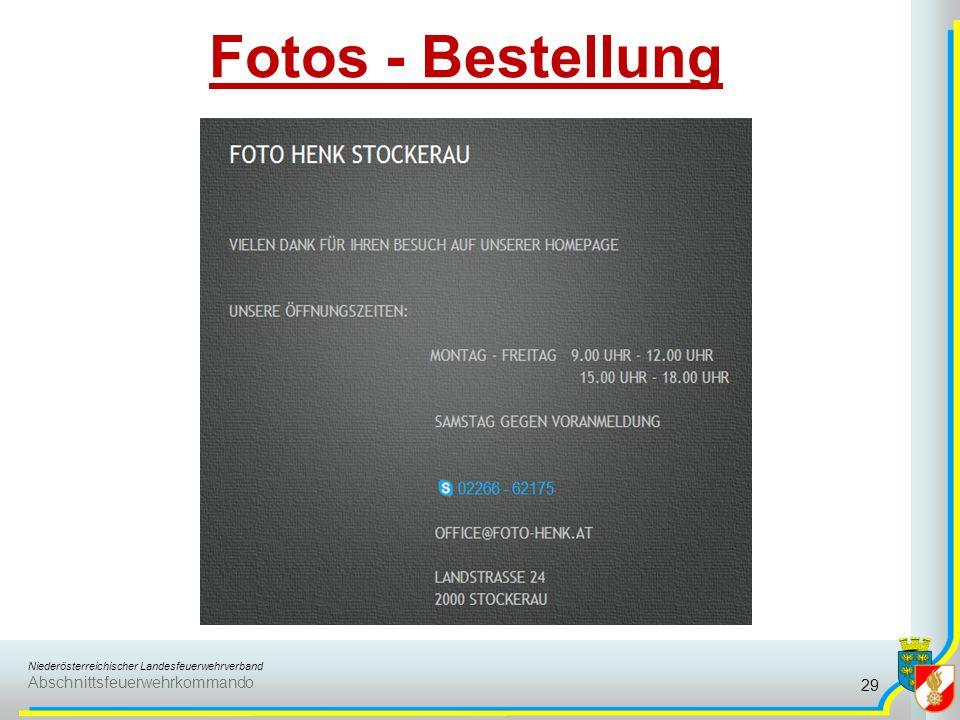 Fotos - Bestellung
