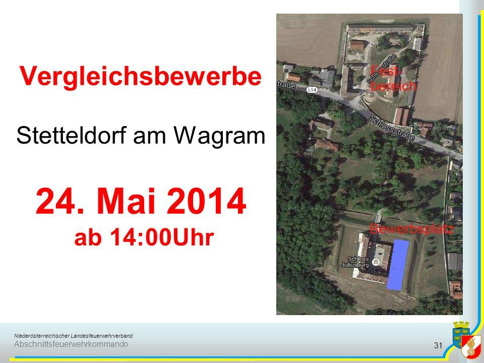 Vergleichsbewerbe Stetteldorf am Wagram 24. Mai 2014 ab 14:00Uhr