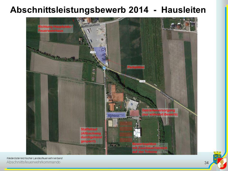 Abschnittsleistungsbewerb 2014 - Hausleiten