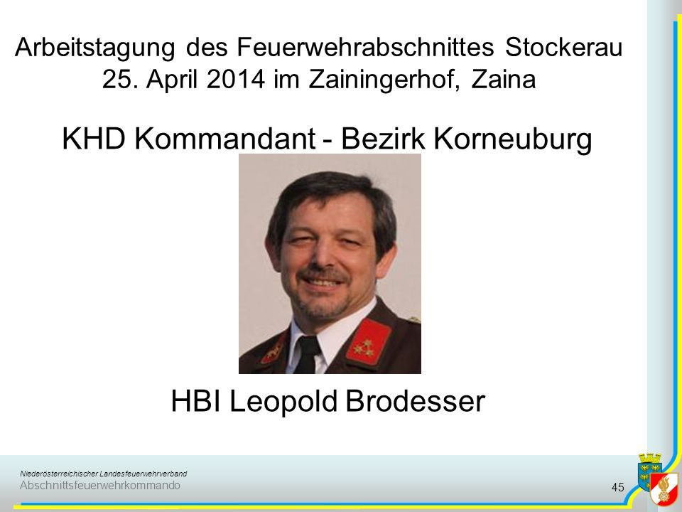 KHD Kommandant - Bezirk Korneuburg