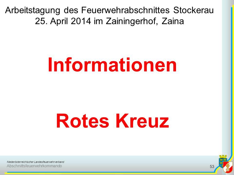 Informationen Rotes Kreuz