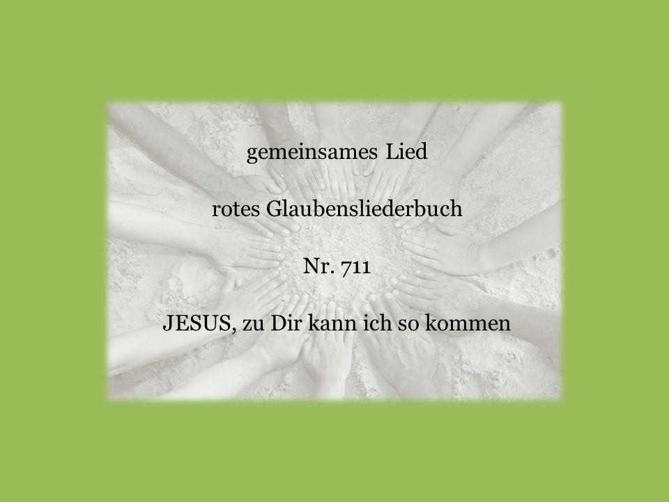 gemeinsames Lied rotes Glaubensliederbuch Nr