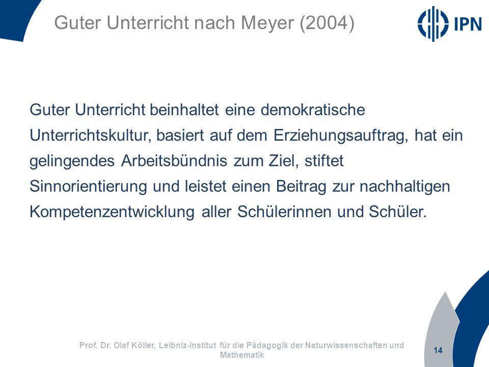 Guter Unterricht nach Meyer (2004)
