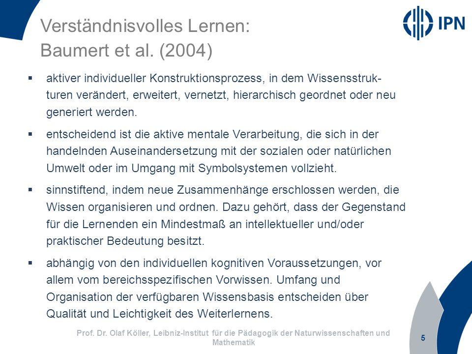 Verständnisvolles Lernen: Baumert et al. (2004)