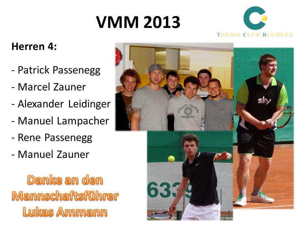 VMM 2013 Danke an den Mannschaftsführer Lukas Ammann