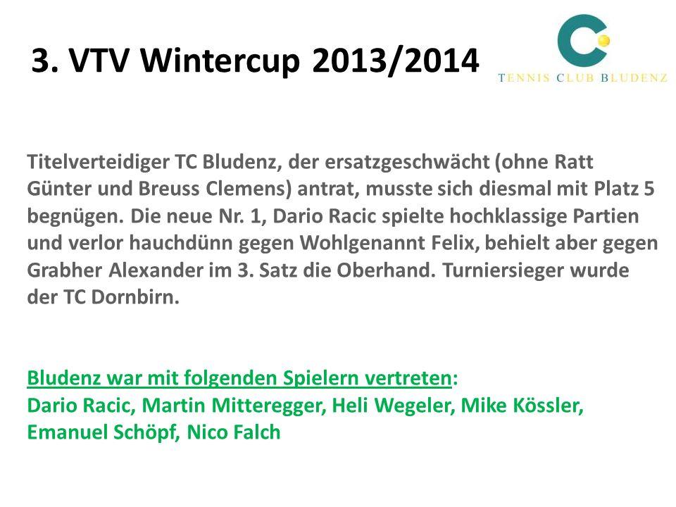 3. VTV Wintercup 2013/2014