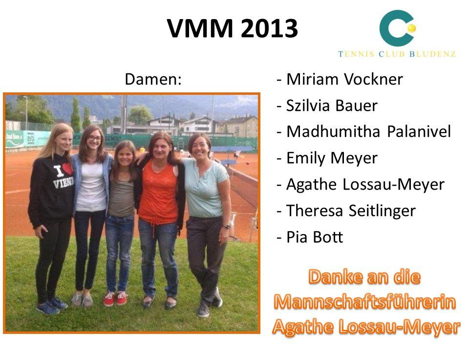 VMM 2013 Danke an die Mannschaftsführerin Agathe Lossau-Meyer
