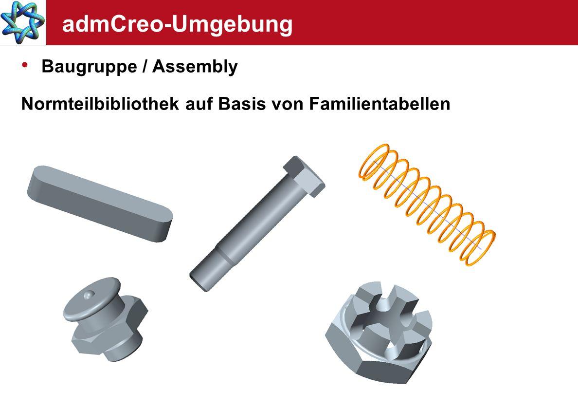 admCreo-Umgebung Baugruppe / Assembly