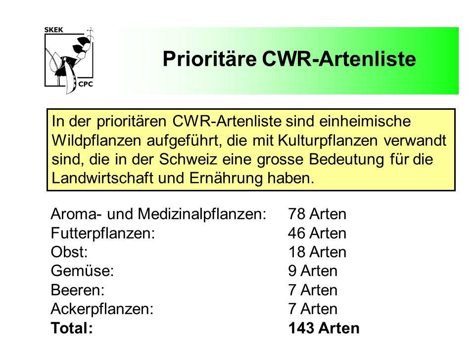 Prioritäre CWR-Artenliste