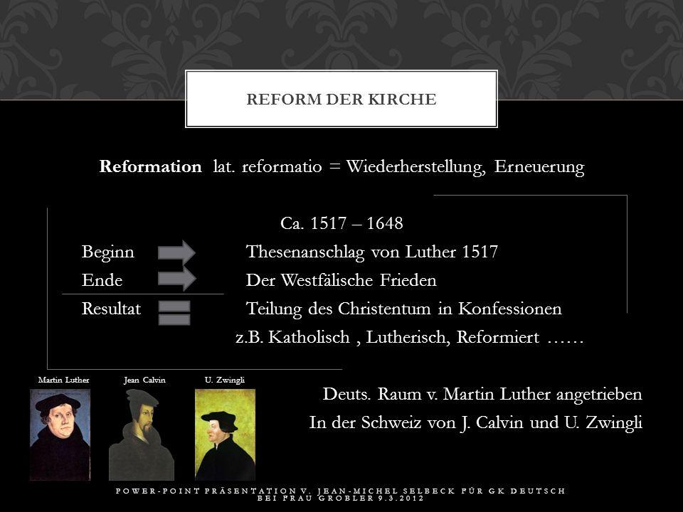 Reform der Kirche