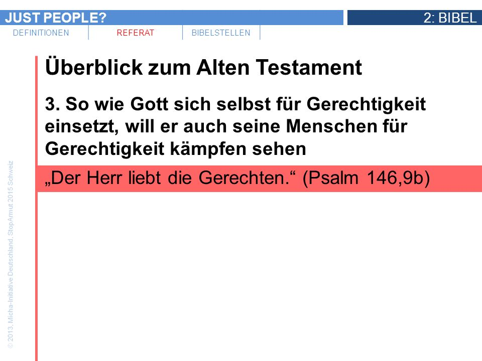 Überblick zum Alten Testament